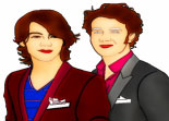 Jonas Brothers Coloriage