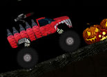 Monster Truck Chasse Pendant Halloween